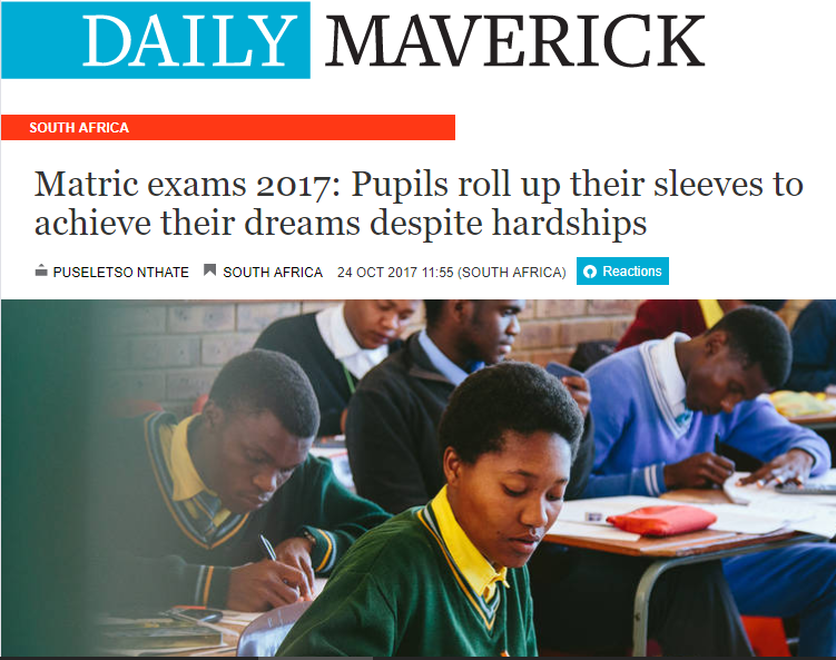 Daily Maverick portrays Siyandisa Scholarship recipients overcoming hardships